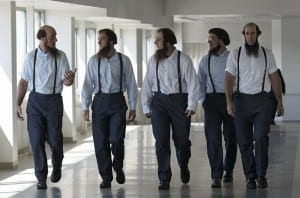 Amish men leaving trial