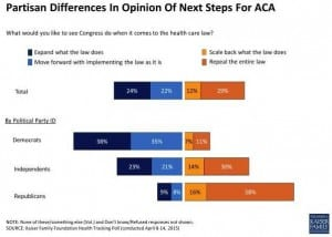 Partisan Differences in What Should Be Done with PPACA