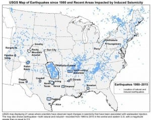 Earthquates since 1980 and Recent Areas