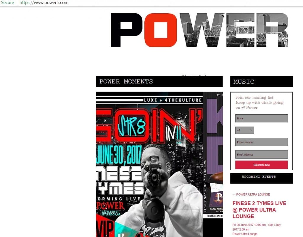 power lounge screen shot 1